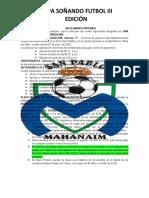 REGLAMENTO COPA MAHANAIM XI EDICIÓN