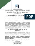 DEMANDA DE EJECUCIÓN CONTRATO CON RESERVA DE DOMINIO