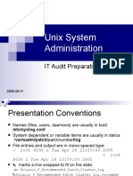 Unix System Adminstration - It Audit Preparation
