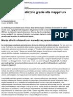 Medicine Personalizzate Grazie Alla Mappatura Del Genoma - 2010-10-14