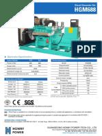600 kva diesel generator set model HG 600