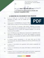 Arrete 1085 c Portant Modalites Et Normes de Presentation Du Fichier Des Ecritures Comptables Fec