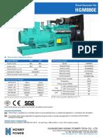 880 kva diesel generator set model hg800
