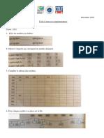 Fiche d'exercices supplémentaires pour se préparer à l'évaluation Décembre 2020 (1)