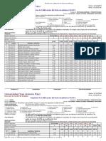 Registro de Calificación de Actas Académicas 104O2