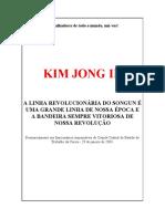 A Linha Revolucionária Do Songun é Uma Grande Linha - Kim Jong Il (PORTUGUÊS)