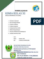 Cover Program Kimia Pakde kls XI - Ittifaqiyah