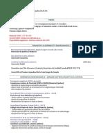 cv enseignement - anthony de francesco - francais - set 2020