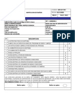 Informe de inspección Seguridad industrial