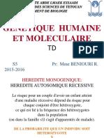 TD genetique 2015-16