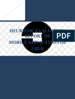 HEURISTIC EVALUATION REPORT OF UBER