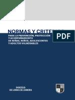 Normas y Criterios Para La Prevención, Protección y Acompañamiento de Niños, Niñas, Adolescentes y Adultos Vulnerables
