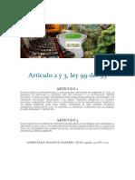 Articulo 2 y 3 LEY 99 DEL 93