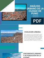 ANALISIS URBANO DE LA CIUDAD DE PUNO 1 .