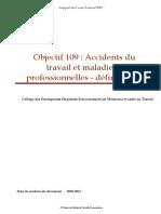 Accidents du travail et maladies professionnelles - definitions