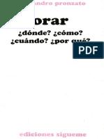 Alessandro Pronzato - Orar, dónde, cuándo, cómo, por qué.pdf
