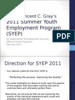 SYEP11 Information