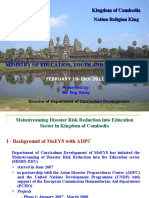 Cambodia Case Study on Mainstreaming DRR in Education Workshop