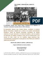 """Juan Vicente Gómez_ """"Unión, Paz y Trabajo""""._ GENERAL JUAN VICENTE GÓMEZ, CREADOR DEL EJÉRCITO NACIONAL DE VENEZUELA"""