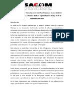 ISACOM- Informe sobre las violaciones de derechos humanos en las ciudades ocupadas de la RASD entre el 20 de septiembre de 2020 y el 10 de diciembre de 2020
