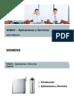 WiMAX - Aplicaciones y Servicios
