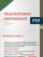 Traumatismes Abdominaux Dr Achab