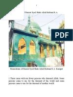 Some Sayings of Hazrat Syed Shah Afzal Biabani