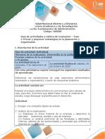 Guía de Actividades y Rúbrica de Evaluación –Unidad 1- Fase 2 – Prever y Proponer Estrategias en La Planeación y Organización