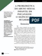 A    PROBLEMÁTICA    DO  ABUSO   SEXUAL   INFANTIL EM PSICANÁLISE O  SILÊNCIO   DAS   MULHERES.pdf
