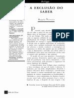 A   EXCLUSÃO     DO     SABER.pdf