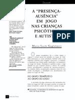 A  PRESENÇA-AUSÊNCIA EM   JOGO   NAS CRIANÇAS PSICÓTICAS E AUTISTAS.pdf