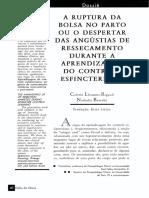 A  RUPTURA   DA   BOLSA   NO    PARTO    OU   O    DESPERTAR    DAS  ANGÚSTIAS     DE     RESSECAMENTO DURANTE   A   APRENDIZAGEM DO   CONTROLE   ESFINCTERIANO.pdf