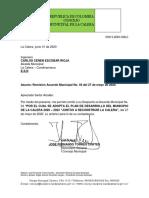 ACUERDO MUNICIPAL PDM SANCIONADO La Calera 2020 2023