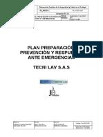 PLA-SST-001 Plan de Preparaci+¦n, Prevenci+¦n y Respuesta ante Emergencias 1.docx