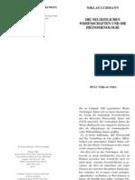 Luhmann, Niklas - Die neuzeitlichen Wissenschaften und die Phänomenologie
