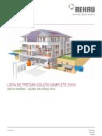 Solutii complete - Lista de preturi REHAU 2010