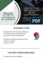 Craniectomía descompresiva en TEC