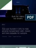 Zoox Vehicle Brochure