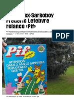Et paf, l'ex-Sarkoboy Frédéric Lefebvre relance «Pif» - Libération