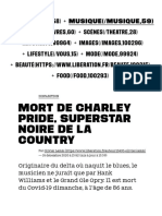 Mort de Charley Pride, superstar noire de la country - Culture
