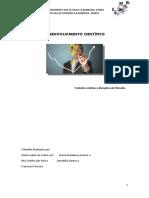Trabalho filosofia desenvolvimento cientifico