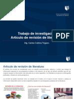 Artículo de revisión de literatura.