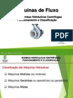 Aula 3 - Bombas Hidráulicas Centrífugas - Funcionamento e Classificação