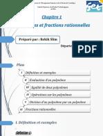 Chapitre 1 Polynomes et fractions rationnelles (1) ppint