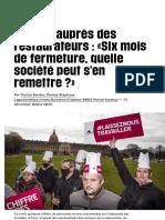 A Paris, auprès des restaurateurs