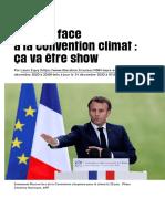 Macron face àlaconvention climat