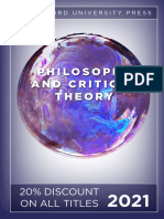 Stanford University Press | Philosophy and Critical Theory 2021