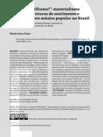 DINIZ, Sheyla C. - Materialismo cultural, estruturas de sentimento e pesquisas sobre música popular no Brasil