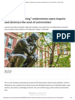 """""""Academic mobbing"""" undermines open inquiry and destroys the soul of universities, Noah Carl, 23-7-2019, The Economist Open Voices"""