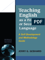Jerry G. Gebhard - Teaching English as a Foreign or Second Language A Self-Development and Methodology Guide